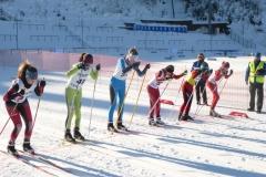 Start Sprint U14, 2.von links Luisa daneben Alexandra, 2. von rechts Saskia