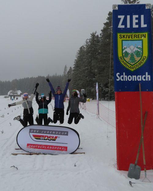 von links, Jasmin, Saskia, Alexandra und Luisa