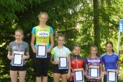 Siegerehrung Cross AK 15: Platz Alexandra, Platz 5 Lisa, Platz 6 Luisa