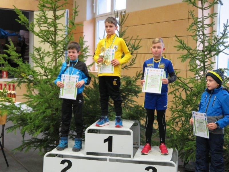 Platz 2 Constantin  bei der Siegerehrung Gesamtwertung 2019