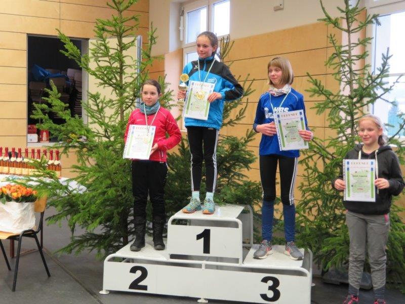 Platz 1 Magdalena bei der Siegerehrung Gesamtwertung 2019